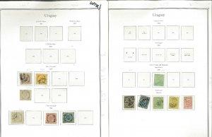 Uruguat 1859-1970 M & U on Palo Hingeless Pages (No Binder)