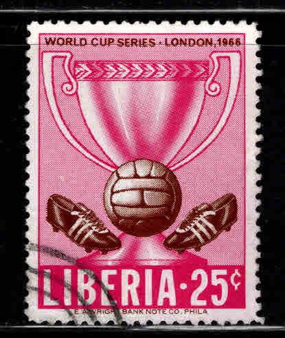 LIBERIA Scott 445 Used Soccer world cup stamp