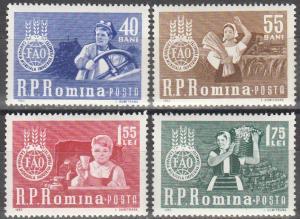 Romania #1536-9 MNH F-VF (SU3791)