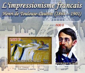 TOULOUSE LAUTREC Paintings s/s Perforated Mint (NH)