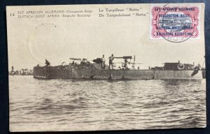 1916 Belgian Congo Real Picture Postcard Stationery cover Torpedo Boat Netta