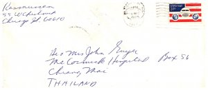 United States, Illinois, Airmail Issues, Foreign Destinations, Thailand