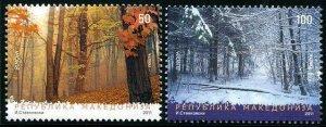HERRICKSTAMP MACEDONIA Sc.# 564-65 Europa 2011 Forests