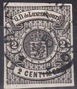 Luxembourg #5  F-VF Used  CV $550.00  Z1128