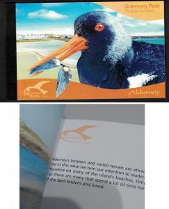 Alderney Residential Birds Waders Part 4 Prestige Booklet of 4 sets ERROR!