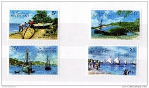 St Vincent & Grenadines 1974 Boat Set to $1 Mint MNH X3272