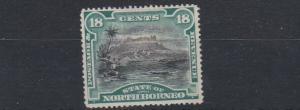 NORTH BORNEO  1894     18C  BLACK & DEEP GREEN  MH