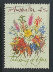 SG 1231  SC# 1164b  Used right margin imperf Wildflowers