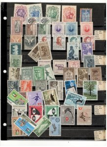 ITALY COLLECTION ON STOCK SHEET, ALL MINT