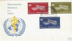 Rwanda 161-3 FDC Opening of WHO HQ in Geneva