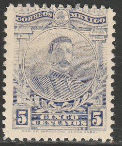 MEXICO 622, 5¢ PERFORATED, UNUSED, H OG. F-VF