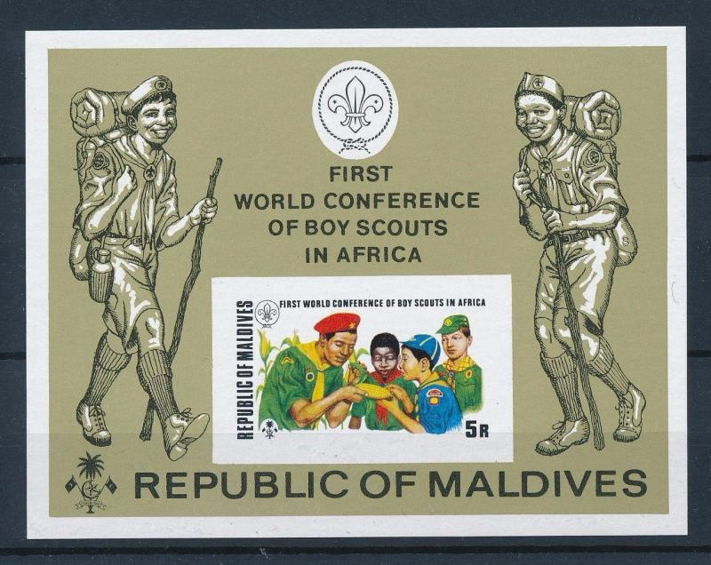 [36703] Maldives 1973 Scouting Scouts Imperforated Souvenir Sheet MNH