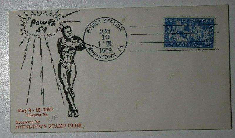 POWEX Sta Johnstown PA 1959 Philatelic Expo Cachet Cover