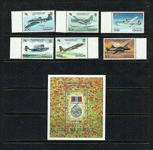 Kiribati: 1995 50th Anniversary of the end of World War II. MNH set + M/Sheet.