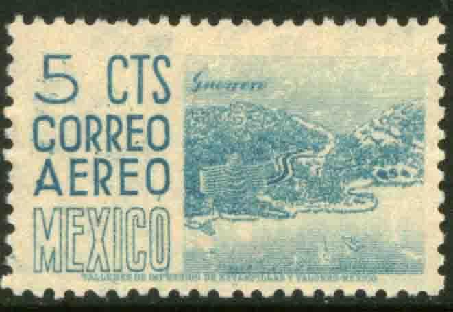 MEXICO C186, 5¢ 1950 Definitive 1st Printing wmk 279. MINT, NH. F-VF.
