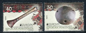 171 - MACEDONIA 2014 - Europa Cept - Musical Instruments - MNH Set