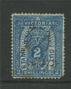 STAMP STATION PERTH: Australia Victoria #? Used 1879? Single 2/- Stamp