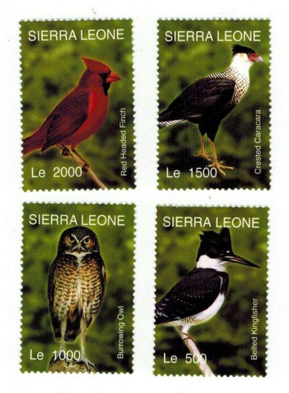 Sierra Leone MNH Set Various Birds Fauna
