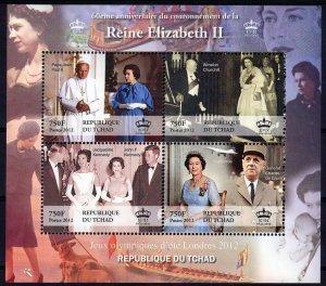 60th.Anniv.Queen Elizabeth II/Prince Philip /Churchill/Kennedy/Sheetlet (4)