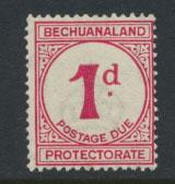 Bechuanaland Postage Due SG D5 thicker d  Mounted Mint