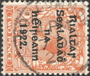 IRLANDE / IRELAND / EIRE - 1922 (7 Oct)  ROSCOMMON  (Ros Comáin) cds on SG33