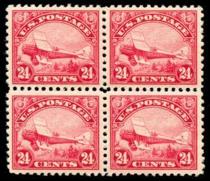 momen: US Stamps #C6 Block of 4 Mint OG 3NH/1LH XF
