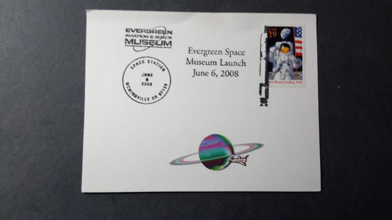 Evergreen Space Museum w/ sc.2841 almost cancel free. From Oregon