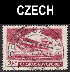 Czechoslovakia Scott C13 F to VF used with a splendid SON cds.