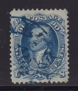 72 VF+ used neat blue cancel with nice color cv $ 660 ! see pic !