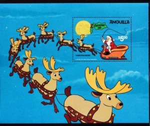 DISNEY ANGUILLA 462 MINT NH CHRISTMAS 1981 S/S