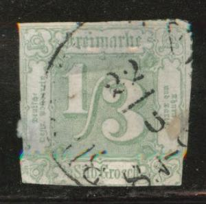 Thurn and Taxis Scott 16 Used 1/3 sgr 1863 green CV$250
