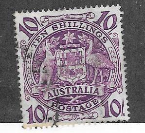 Australia  #219 10sh purple (U)   CV $2.00
