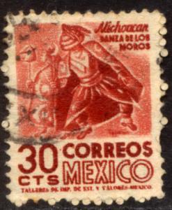 MEXICO 861, 30c 1950 Definitive wmk 279 Used (293)