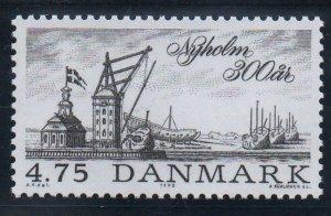 Denmark  Scott  913 1990 300th Anniversary Nyholm stamp mint NH