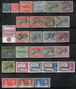 Dominica QV-GVI Mint + Used Selection 28 Stamps CV$145