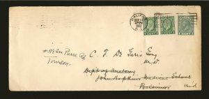Canada U46a & 195x2 Postmarked 1933 Halifax NS Cover Used