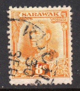 Sarawak 1932 KGV 8c orange-yellow SG 97 used