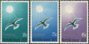 Norfolk Island 1976 SG176-178 Christmas set tern MNH