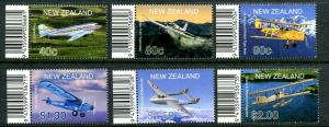 New Zealand 1714 -1718, MNH.Aircraft Tab Set,2001
