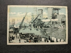 USS CHICAGO CA-14 WWI Naval Cover 1917 postcard