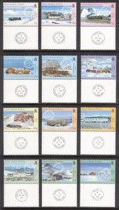 BRITISH ANTARCTIC 2003 Bases and Postmarks; Scott 330-41, SG 377-88; MNH