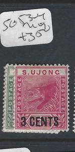 MALAYA SUNGEI UJONG  (P0502B)  1C, 3C SURCH  TIGER  SG 53-4   MOG