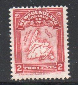 Newfoundland Sc 86 1908 2c Map stamp mint