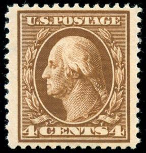 momen: US Stamps #377 Mint OG NH VF/XF+