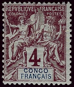 French Congo SC #20 Mint F-VF hr SCV$3.50...Bid to Win!