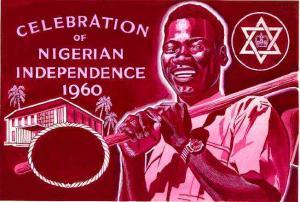 Nigeria 1960 Independence - original hand-painted artwork...