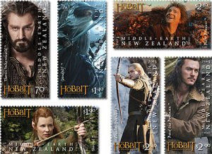 2013  NEW ZEALAND  SG: 3512/17 THE HOBBIT, DESOLUTION OF SMAUG UNMOUNTED MINT