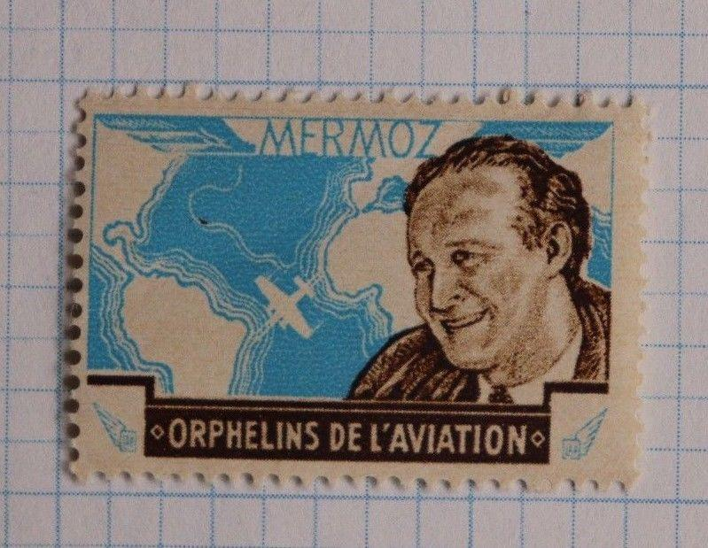 Mermoz orphans of aviation world map charity seal? pilot death airplane crash?
