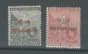 Bechuanaland 3,4   Mint   1886 PD
