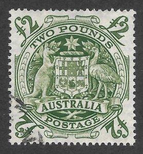Doyle's_Stamps: Use 1950 XF-S Australian 2-Pound Stamp #221